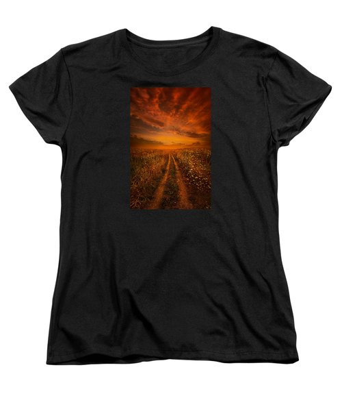 Miles And Miles Away Women's T-Shirt (Standard Cut) by Phil Koch