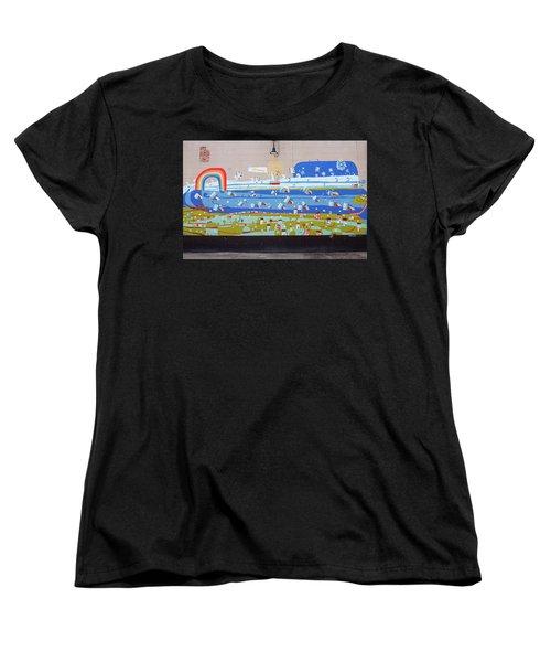 Milk Mural Women's T-Shirt (Standard Cut) by Jean Haynes