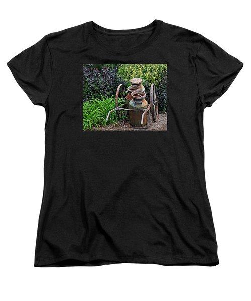 Milk Pails Women's T-Shirt (Standard Cut) by Judy Vincent