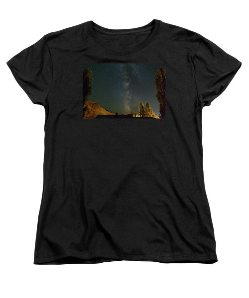 Milky Way Over Farmland In Central Oregon Women's T-Shirt (Standard Fit)