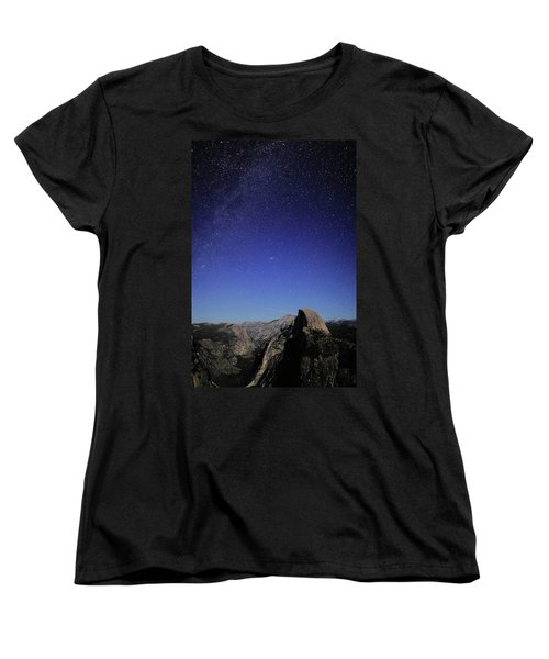 Milky Way Over Half Dome Women's T-Shirt (Standard Cut)