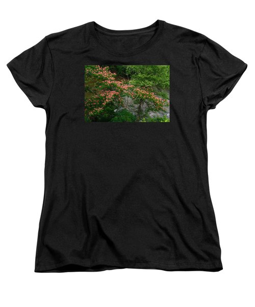 Mimosa On The Dan River Women's T-Shirt (Standard Cut) by Kathryn Meyer