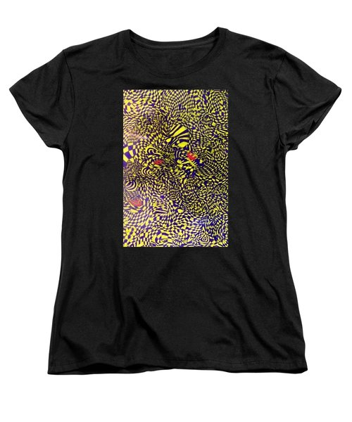Women's T-Shirt (Standard Cut) featuring the painting Mind Kaleidoscope 1 by Jonathon Hansen