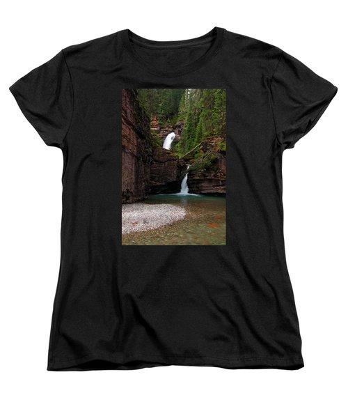 Women's T-Shirt (Standard Cut) featuring the photograph Mineral Creek Falls by Steve Stuller