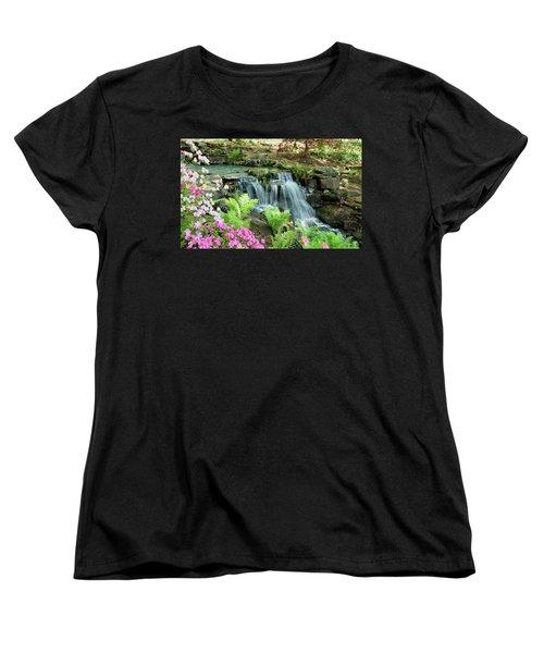 Mini Waterfall Women's T-Shirt (Standard Cut) by Sandy Keeton