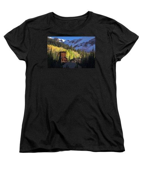 Women's T-Shirt (Standard Cut) featuring the photograph Mining Ruins by Steve Stuller