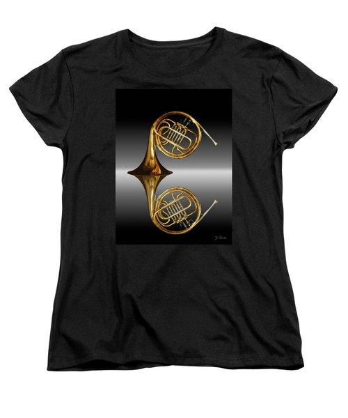 Women's T-Shirt (Standard Cut) featuring the photograph Mirrored Horn by Joe Bonita