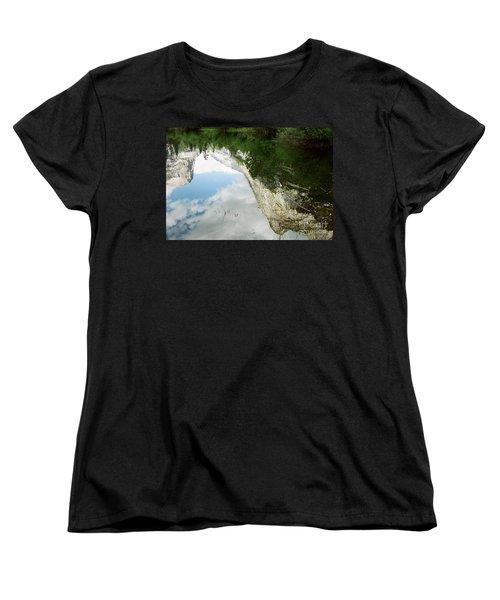 Mirrored Women's T-Shirt (Standard Cut) by Kathy McClure