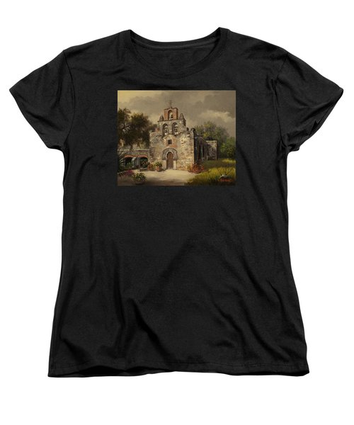 Women's T-Shirt (Standard Cut) featuring the painting Mission Espada by Kyle Wood