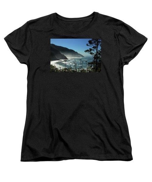 Misty Coast At Heceta Head Women's T-Shirt (Standard Cut) by James Eddy