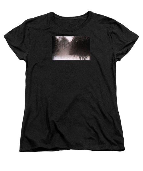 Misty Women's T-Shirt (Standard Cut) by Linda Shafer