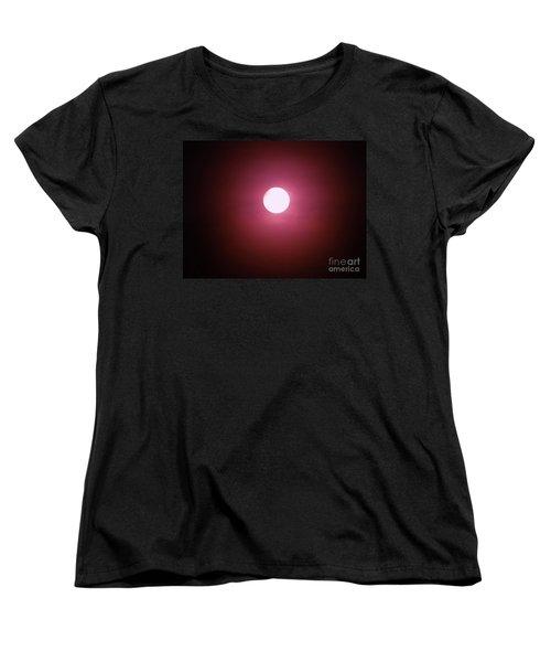 Women's T-Shirt (Standard Cut) featuring the photograph Misty Moon by J L Zarek