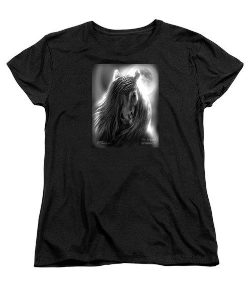 Misty Moonlight Women's T-Shirt (Standard Cut) by Patricia L Davidson