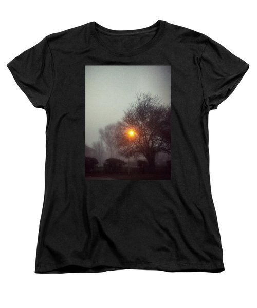 Women's T-Shirt (Standard Cut) featuring the photograph Misty Morning by Persephone Artworks