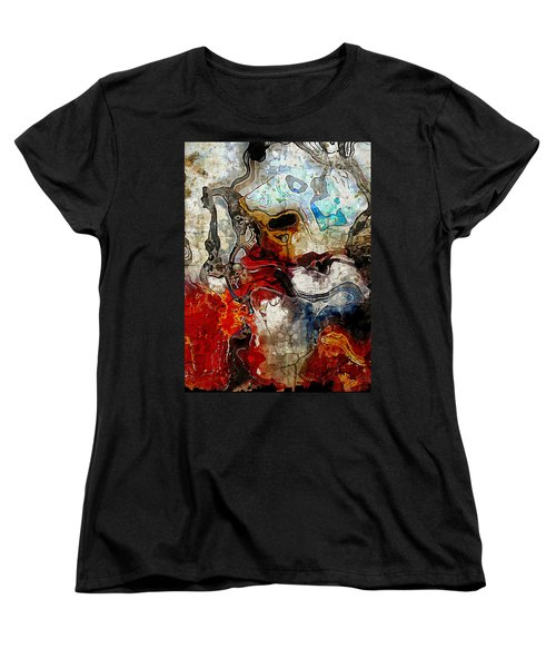 Mixed Emotions Women's T-Shirt (Standard Cut) by The Art Of JudiLynn