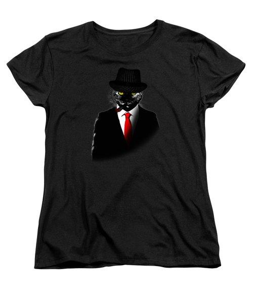 Mobster Cat Women's T-Shirt (Standard Cut) by Nicklas Gustafsson