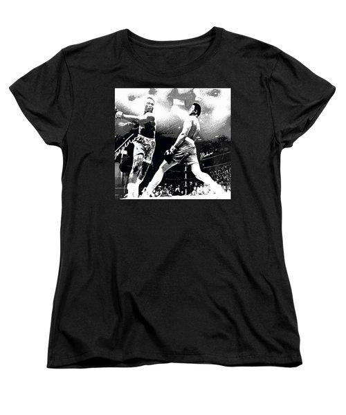 Mohamed Ali Float Like A Butterfly Women's T-Shirt (Standard Cut) by Saundra Myles