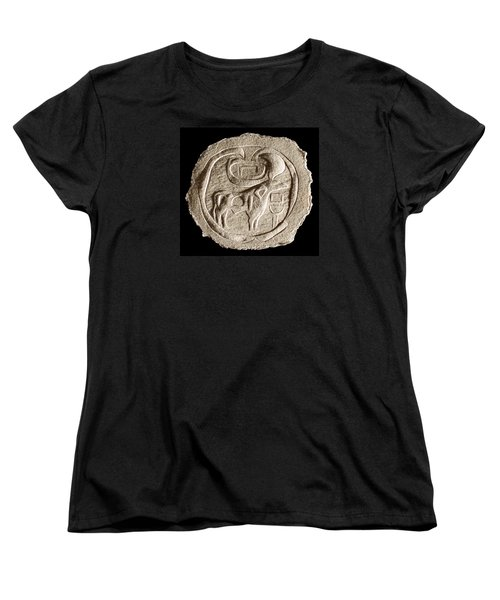 Women's T-Shirt (Standard Cut) featuring the relief Mohenjodaro Seal by Suhas Tavkar