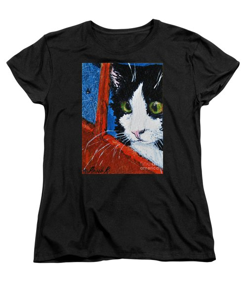 Women's T-Shirt (Standard Cut) featuring the painting Molly by Reina Resto