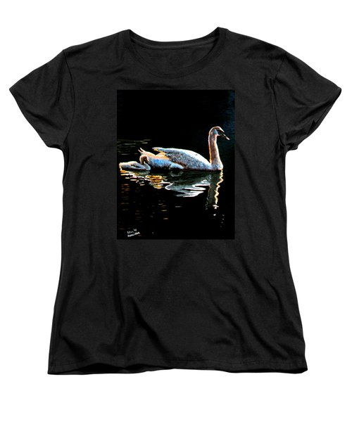 Mom And Baby Swan Women's T-Shirt (Standard Cut) by Stan Hamilton