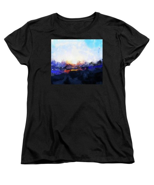 Moment In Blue Spaces Women's T-Shirt (Standard Cut) by Cedric Hampton