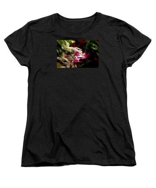 Momma's Christmas Cactus Women's T-Shirt (Standard Cut) by B Wayne Mullins