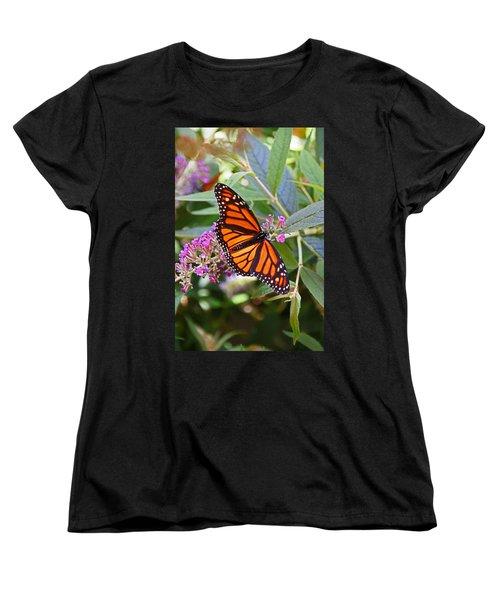 Monarch Butterfly 2 Women's T-Shirt (Standard Cut) by Allen Beatty