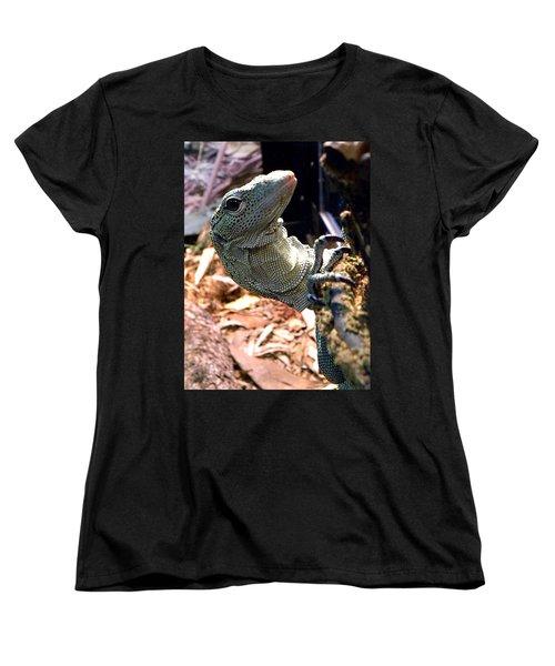 Monitor Lizard 002 Women's T-Shirt (Standard Cut) by Chris Mercer