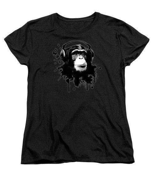 Monkey Business - Black Women's T-Shirt (Standard Cut) by Nicklas Gustafsson