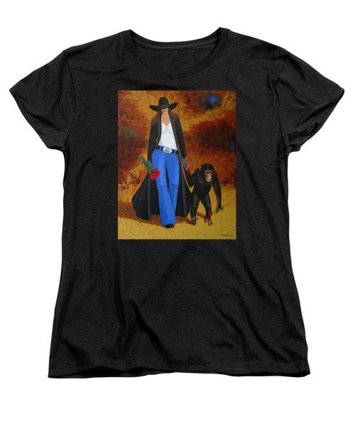 Monkeys Best Friend Women's T-Shirt (Standard Cut) by Lance Headlee