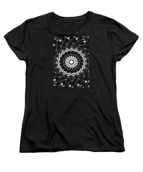 Monochrome Petals Mandala Women's T-Shirt (Standard Cut)