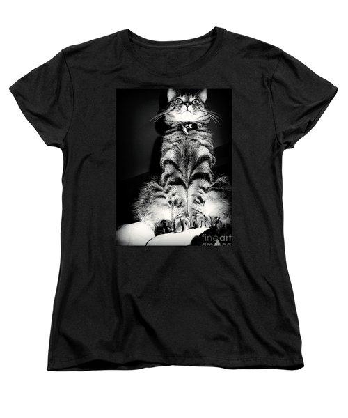 Monty Our Precious Cat Women's T-Shirt (Standard Cut) by Jolanta Anna Karolska