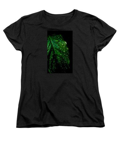 Moody Raindrops Women's T-Shirt (Standard Cut) by Parker Cunningham