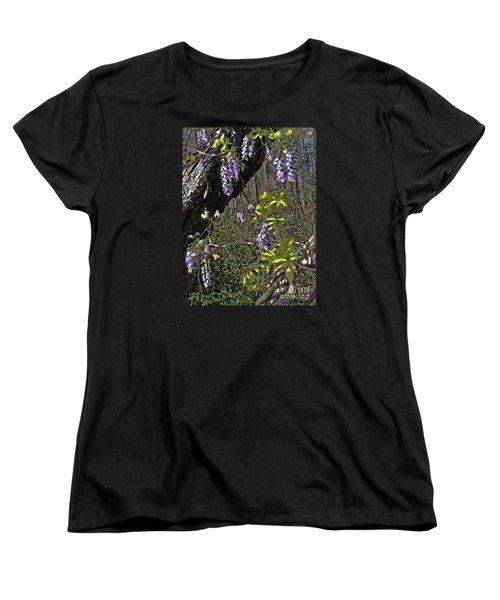 Moon Glow Wisteria Women's T-Shirt (Standard Cut) by Patricia L Davidson