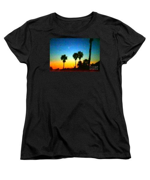 Moon Jupiter Sunrise Women's T-Shirt (Standard Cut) by Gerhardt Isringhaus