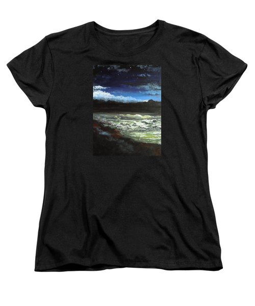 Moon Lit Sea Women's T-Shirt (Standard Cut) by Dan Whittemore
