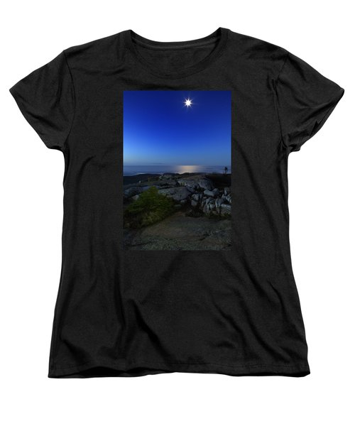 Moon Over Cadillac Women's T-Shirt (Standard Cut)