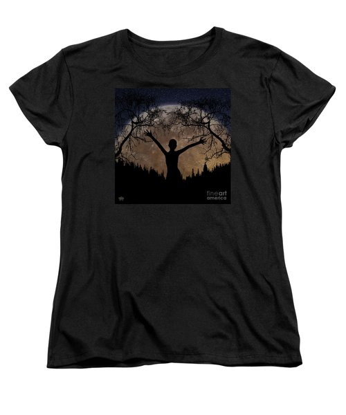 Moon Rising Women's T-Shirt (Standard Cut) by Peter Piatt