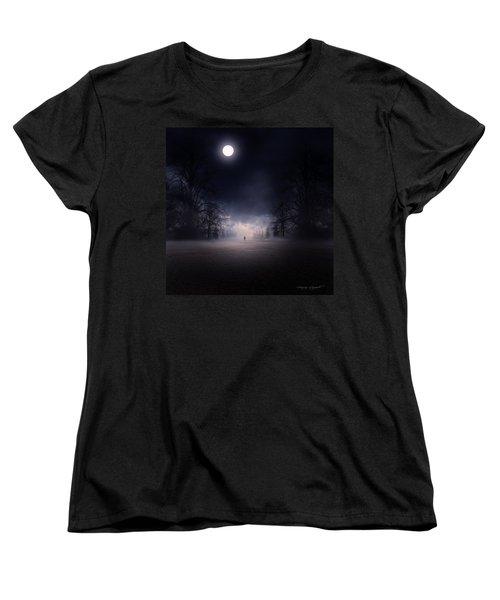 Moonlight Journey Women's T-Shirt (Standard Cut) by Lourry Legarde