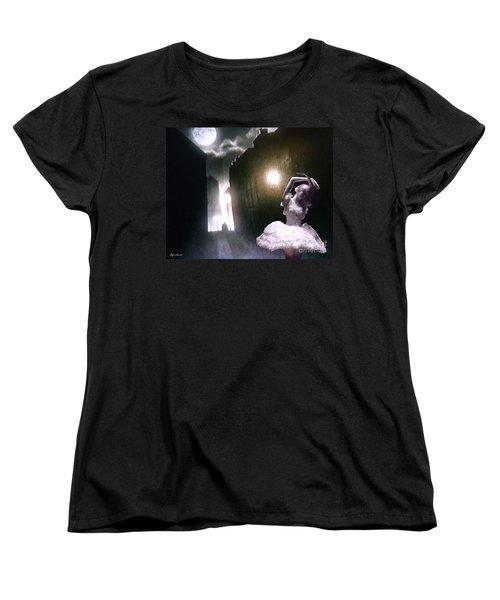 Moonlight Memory Women's T-Shirt (Standard Cut) by Lyric Lucas