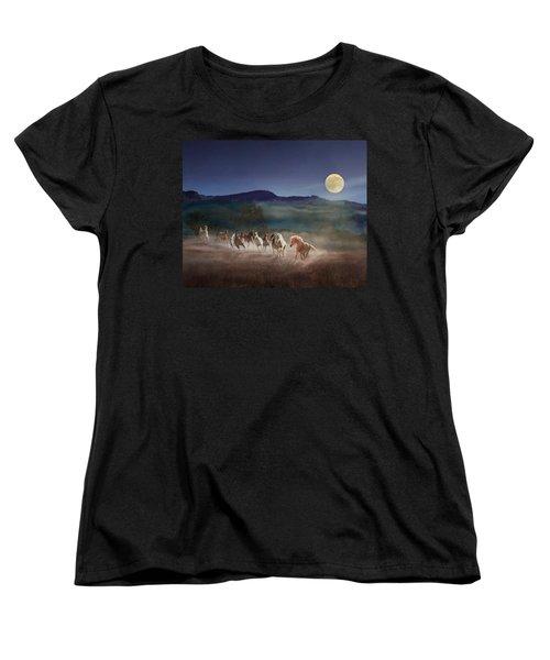 Moonlight Run Women's T-Shirt (Standard Cut) by Melinda Hughes-Berland