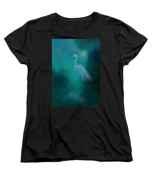Women's T-Shirt (Standard Cut) featuring the photograph Moonlight Serenade by Marvin Spates