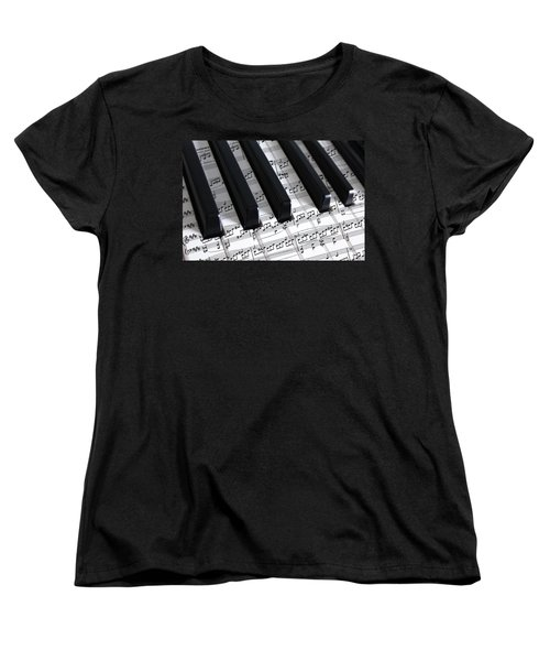 Moonlight Sonata Women's T-Shirt (Standard Cut) by Iryna Goodall