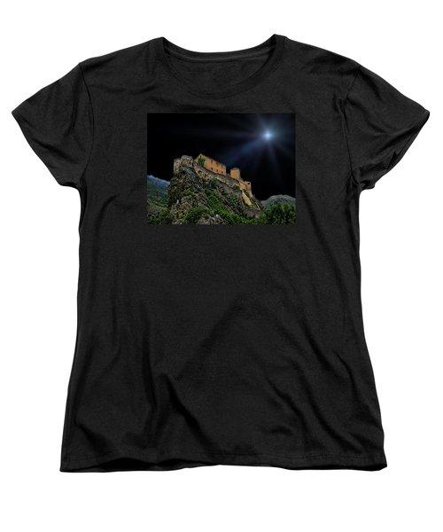 Moonlit Castle Women's T-Shirt (Standard Cut) by Anthony Dezenzio