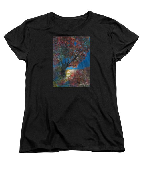Moonlit Tree Women's T-Shirt (Standard Cut) by Denise Hoag
