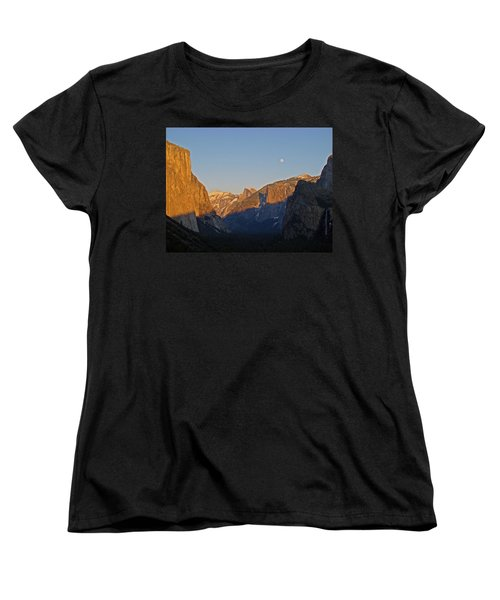 Women's T-Shirt (Standard Cut) featuring the photograph Moonrise by Walter Fahmy