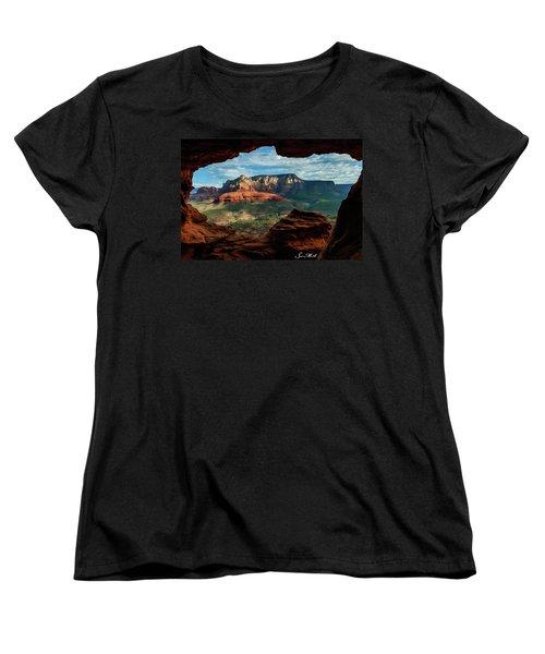 Moose Ridge 06-056 Women's T-Shirt (Standard Cut) by Scott McAllister