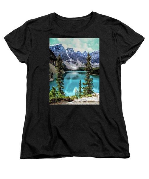 Moraine Lake Women's T-Shirt (Standard Cut) by Lynn Bolt