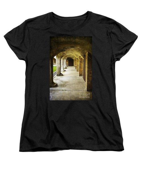 Moravian Pottery And Tile Works Women's T-Shirt (Standard Cut) by Debra Fedchin