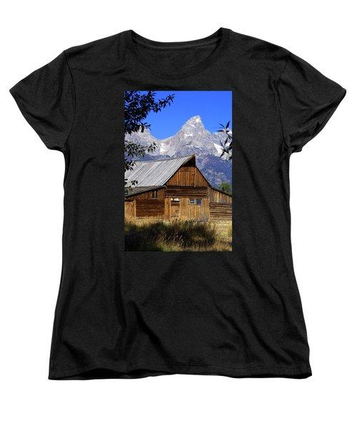Mormon Row Barn  1 Women's T-Shirt (Standard Cut) by Marty Koch